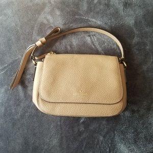 Kate Spade Handbag Neutral Tan Pebbled Leather